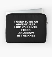 Then I Took at Arrow in the Knee Laptop Sleeve