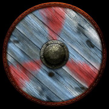 Viking Shield - Tri Design - Red / blue by kayakcapers