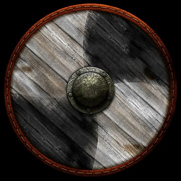 Viking Shield - White / Black quarters by kayakcapers