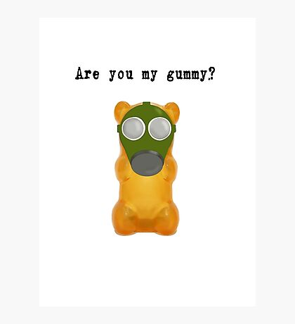 Are You My Gummy? (Black Text) Photographic Print