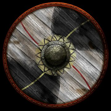 Viking Shield - Two tone plus red & yellow lines by kayakcapers