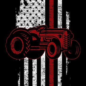 Tractor USA by GeschenkIdee