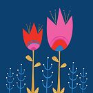 Pink and Red Tulips by Emma Whitelaw