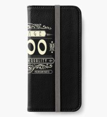 Vintage 19th Bday Top Notch Since 2000 Old Style Exclusive iPhone Wallet/Case/Skin