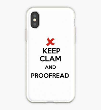 Keep Calm and Proofread - Black iPhone Case