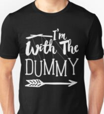 I'm With The Dummy Ventriloquist T-Shirt Slim Fit T-Shirt
