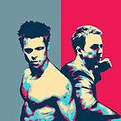 Fight Club Revisited - Tyler Durden and The Narrator Back to Back by Serge Averbukh