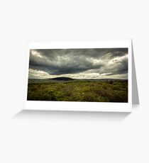 Dramatic Cwmafan Skies Greeting Card