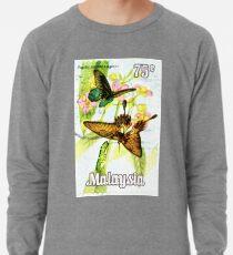 Malaysia Butterfly Print Lightweight Sweatshirt