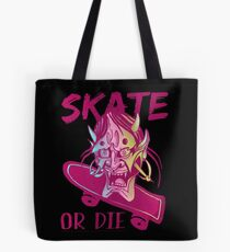 Skate or die purple demon Tote Bag