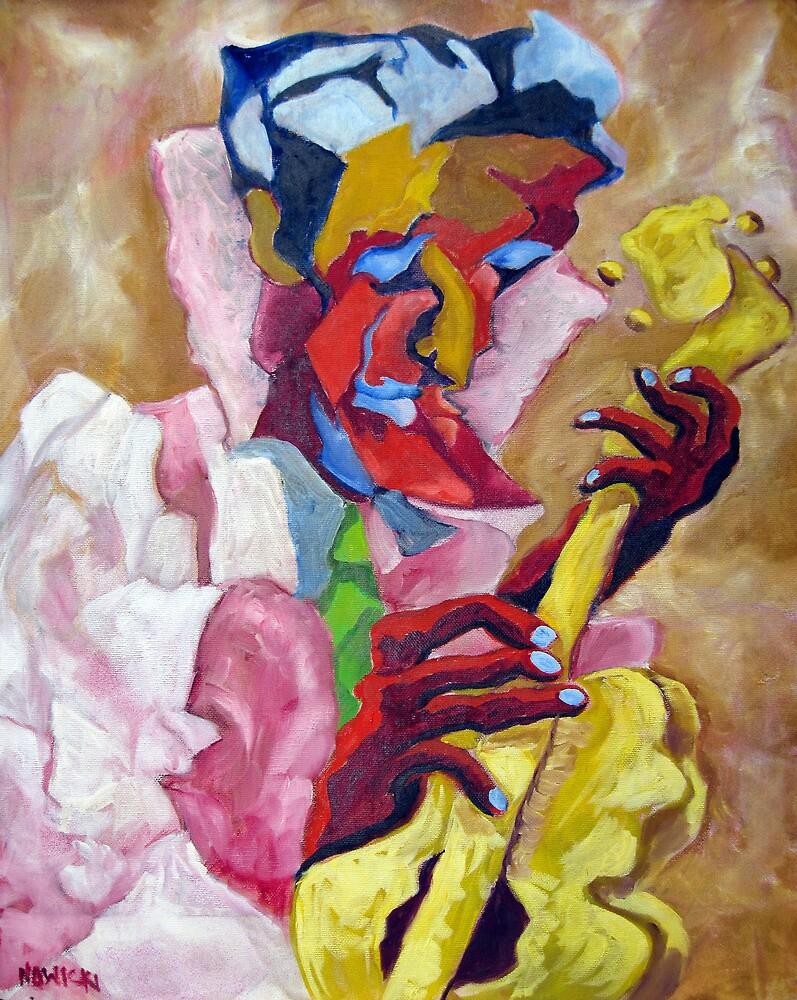 YELLOW GUITAR by IRENE NOWICKI