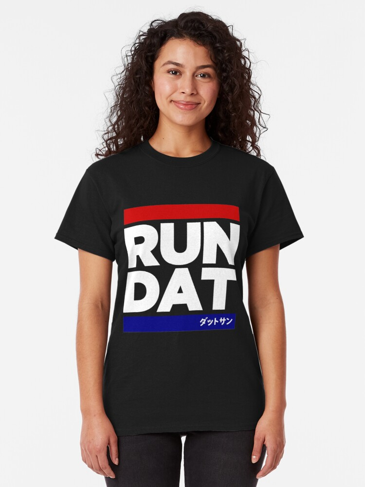 Alternate view of RUN DAT - DATSUN - BLACK Classic T-Shirt
