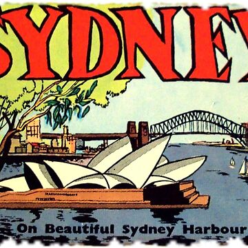 Sydney Australia Vintage Travel Decal by hilda74