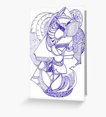 Spacious Unrealistic Doodle  Greeting Card