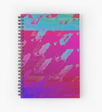 Fuchsia Abstract Spiral Notebook