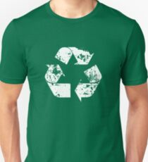 Recycle (Distressed - White) Slim Fit T-Shirt