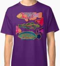 Colorful Abstract Fish Art  Classic T-Shirt