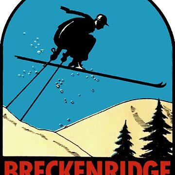 Breckenridge Colorado Vintage Ski Decal by hilda74