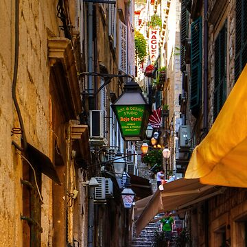 Cafe in a Dubrovnik Alley by tomg