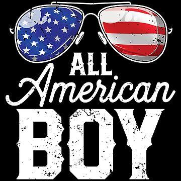 All American Boy 4th of July T shirt Boys Kids Sunglasses by LiqueGifts