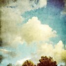 Two Trees and Clouds by newbeltane