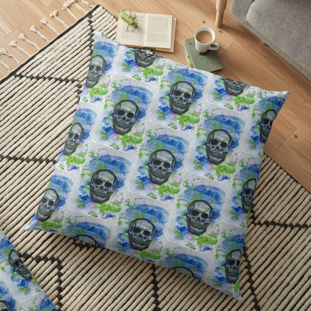 Colour Skull Floor Pillow