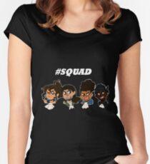 #HAMILSQUAD Tailliertes Rundhals-Shirt