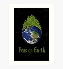 Peas on Earth ... Art Print
