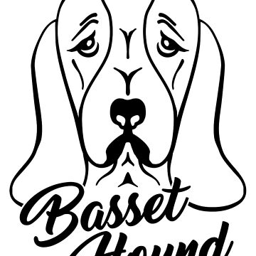 Basset hound head by Designzz