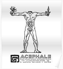ACEPHALE Georges Bataille Secret Society Emblem Poster