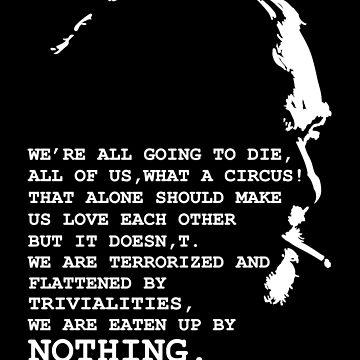 Charles Bukowski by Sacredbluerose