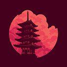 Pagoda Sunset by Waynem79
