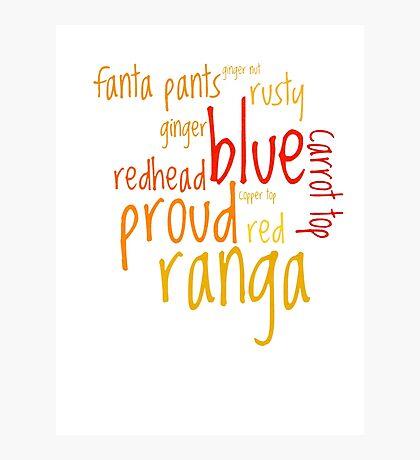 Ranga! Photographic Print