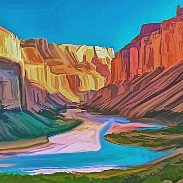 Colorado River In The Grand Cayon painting by Skyviper