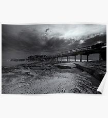 Bare Island Monochrome Poster