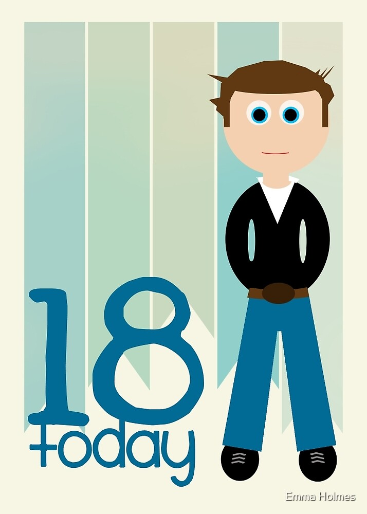 18th Birthday Cards Male ~ Quot happy birthday th male by emma holmes redbubble
