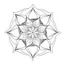 Swirl Mandala tangle by Vickie Simons