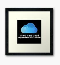 Lámina enmarcada No hay nube