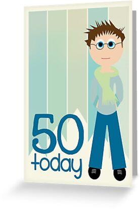 Tarjetas De Felicitacion Feliz Cumpleanos 50 Cumpleanos Hombre
