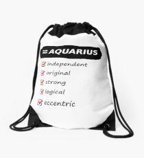 Aquarius Traits Astrology Horoscope Birth Sign  Drawstring Bag