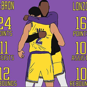 LeBron And Lonzo's Double Triple Double by RatTrapTees