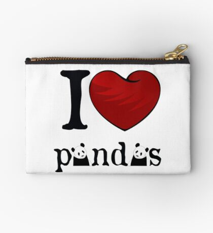 I heart Pandas Studio Pouch