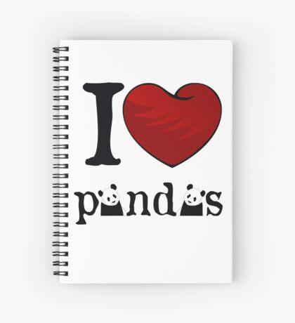 I heart Pandas Spiral Notebook