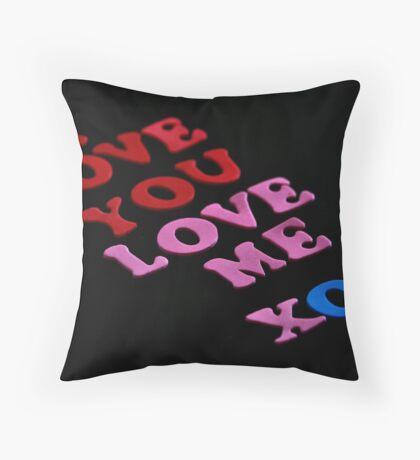 I Love You Love Me Throw Pillow
