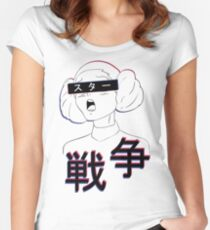 Aesthetic anime Leia star wars Women's Fitted Scoop T-Shirt