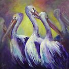 Pelicans by Ivana Pinaffo