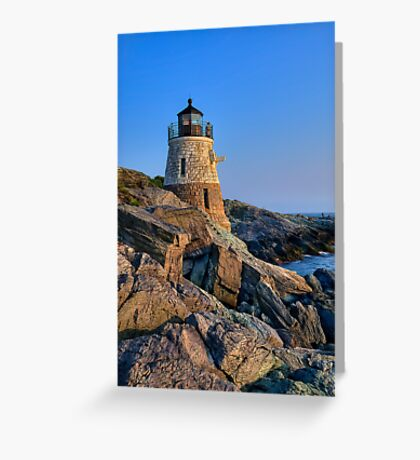 Castle Hill Lighthouse -Rhode Island Greeting Card