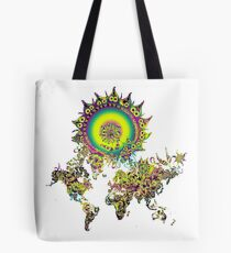 Psychedelic Mother Earth in All her Natural Glory  Tote Bag