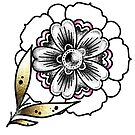 Mini Mandala Flower Stem by Ella Mobbs