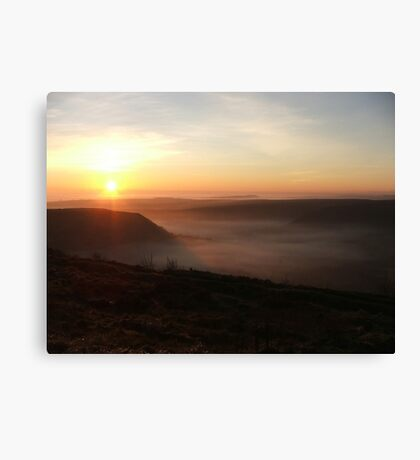 Fog over the Vale of York, Yorkshire, UK Canvas Print